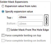 Solder Mask Expansion, make all vias tented? - FEDEVEL Forum